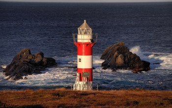 Green point lighthouse,newfoundland and labrador,canada,atlantic ocean,port de grave