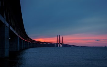 sweden,skane,bunkeflostrand,øresunds bridge