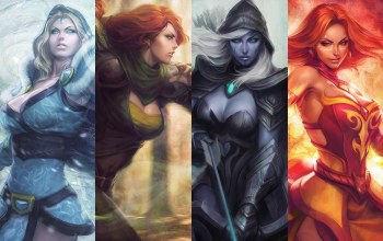 game,девушки,Windranger,игры,drow ranger,crystal maiden