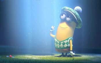 grass,Despicable me 2,lenses,minion,glasses,clothes to play golf,light