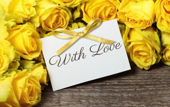 roses,With love,yellow