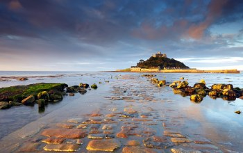 cornwall,sunrise,landscape,St michaels mount