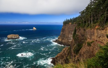 скалы, побережье,Oregon coast
