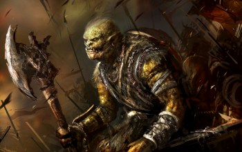 Axe,weapon,orcs,fantasy,warriors,background,orc,artwork,battlefield