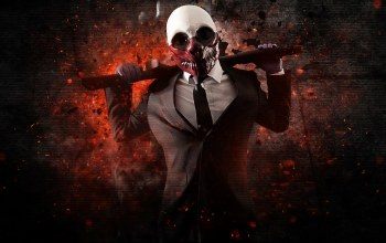 bank robbery,overkill software,wolf,weapon,mask,money,payday,Shotgun