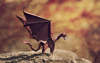 angry,rock,bokeh,wings,dragon,shadow,Origami,flame dragon