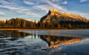 alberta,canada,Vermilion lakes,Late light