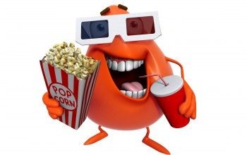 smile,funny,pop corn,movie,cartoon,cinema,монстр,персонаж,cute
