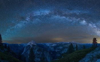 yosemite national park,Milky way,Glacier point,california