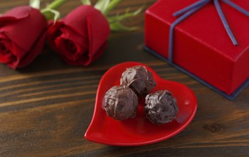 Red,gift,chocolate,Valentines day,roses,heart,Любовь