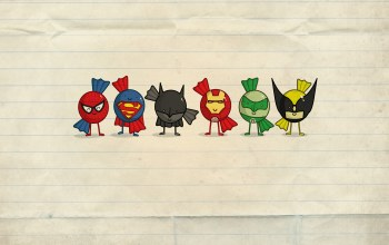 Faces,candy,round,superheroes
