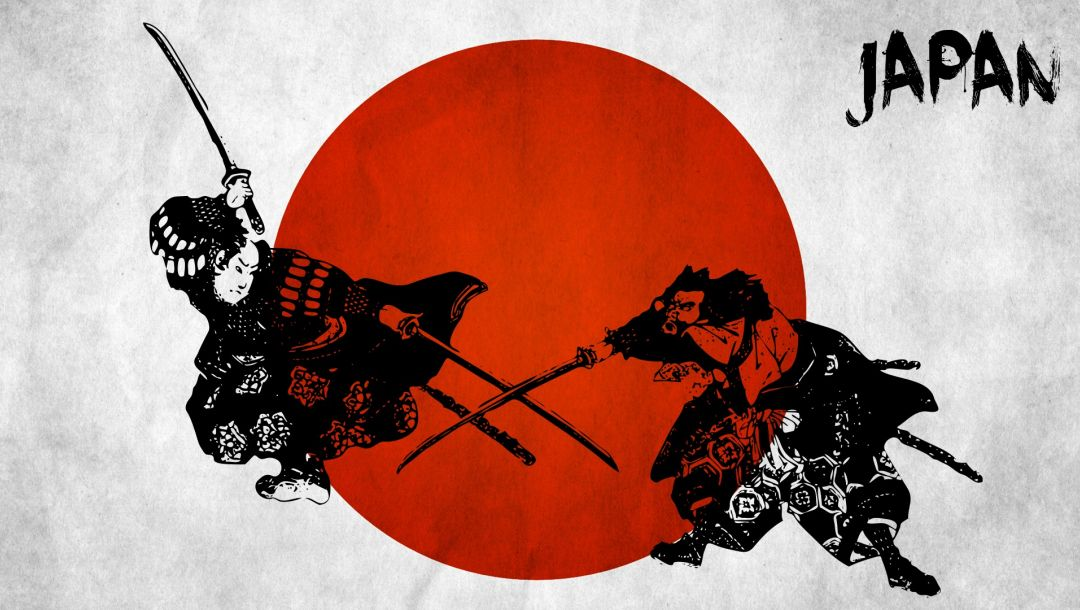 Japanese wall decals,Red