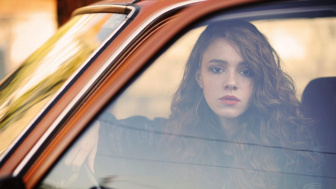 reflection,car,lifestyle,redhead,Autumn day,Window