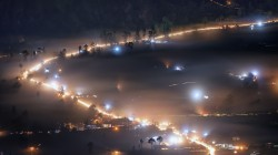 kintamani,bali,indonesia,Misty night