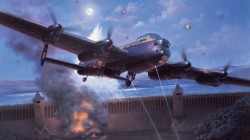 british airplane,drawing,aviation,ww2,war,art,painting,bomber,avro lancaster,dambusters