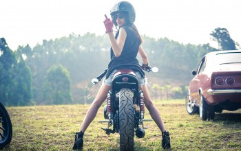 girl,cafe racer,motorcycle,vintage