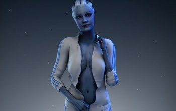 liara tsoni,mass effect,костюм,asari