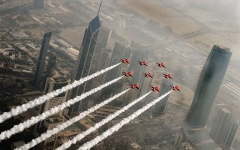 Red arrows,kuwait