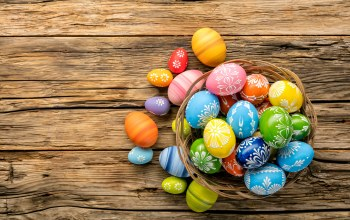 Весна,happy,holiday,яйца,colorful,Easter,spring,wood,eggs