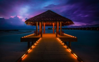 пирс,anantara resort,Maldives,бунгало