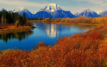 Grand teton national park,сша,вайоминг