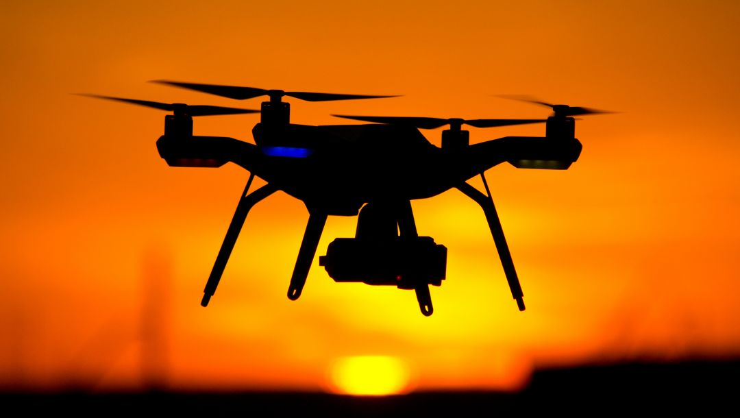 Drone,yellow,shades,Red,Sunset