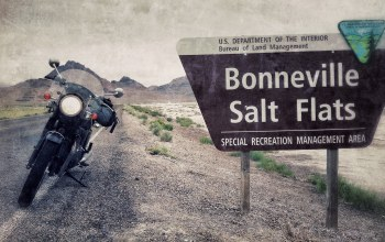 sign,motorcycle,utah,salt flats,bonneville
