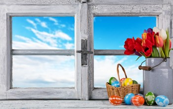 happy,Easter,яйца,decoration,tulips,spring,eggs,цветы