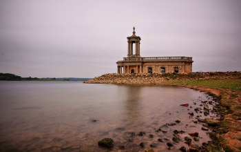 Normanton church,здание,rutland water,церковь