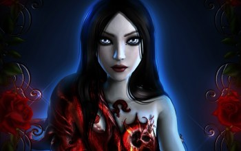 цветы,Alice,alice: madness returns,платье
