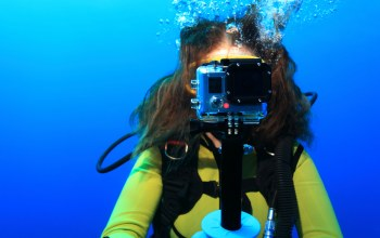 woman,Diving,digital camera