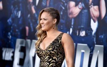 ронда раузи,premiere of lionsgate films,the expendables 3,ronda rousey