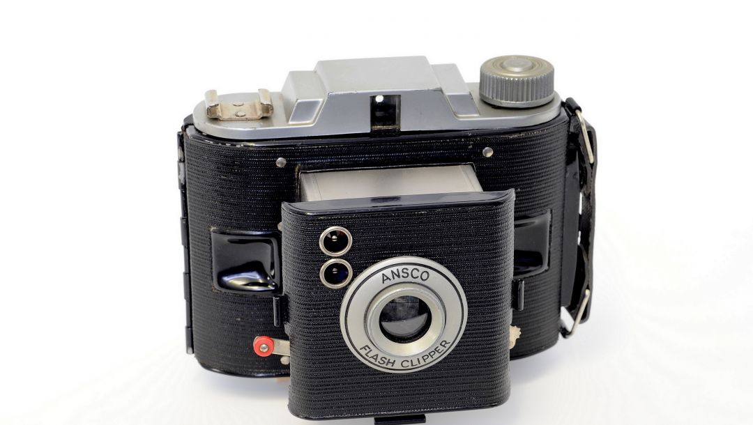 камера,ansco flash clipper