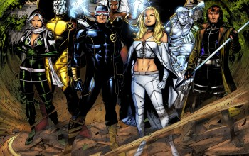 rogue,emma frost,iceman,colossus,cyclops,gambit,storm