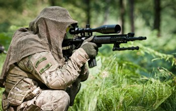 telescopic sight,shooting position,forest,soldier,assault rifle