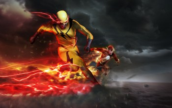 barry allen,Flash,dc comics,eobard thawne,погоня,reverse-flash