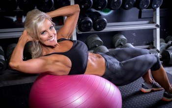 abs,workout,training ball,smile