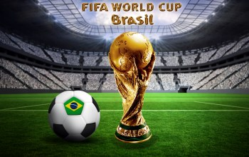 flag,stadium,football,golden trophy,Ball,Brasil