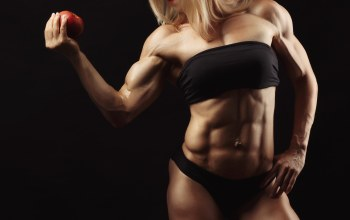 pose,abs,bodybuilder,muscles,blonde,apple