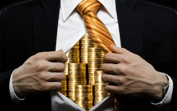 Businessman,chest,Coins,suit,tie