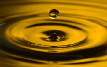 ripples,капля,water,drop,yellow,Вода,всплеск