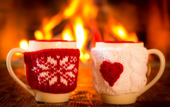 couple,coffee,камин,cup,cute,fire,кофе,winter,горячий