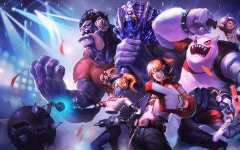 Ezreal,Orianna,персонажи,nunu,dr. mundo,league of legends