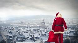 city,Santa claus is coming ,town,gifts,merry christmas,new year