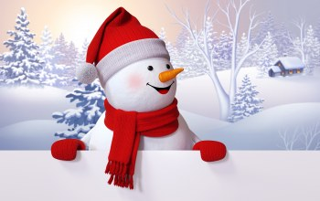 winter,Snowman,snow,снеговик,happy,cute