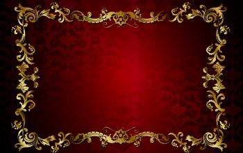 vector,texture,vintage,винтаж,golden,dark,background,Red