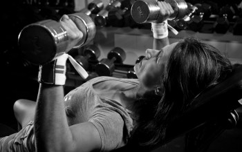 dumbbells,woman,weight,chest