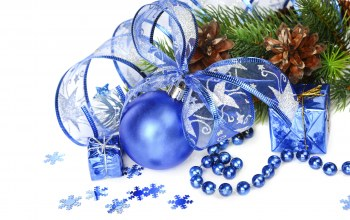 blue,christmas,украшения,decoration,рождество