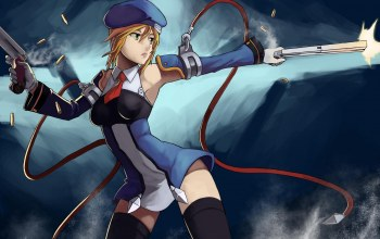 форма,blazblue,noel vermillion,стрельба