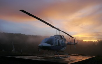 longranger,Bell,206,png,morning,scene,jungle,chopper,sunrise,helicopter
